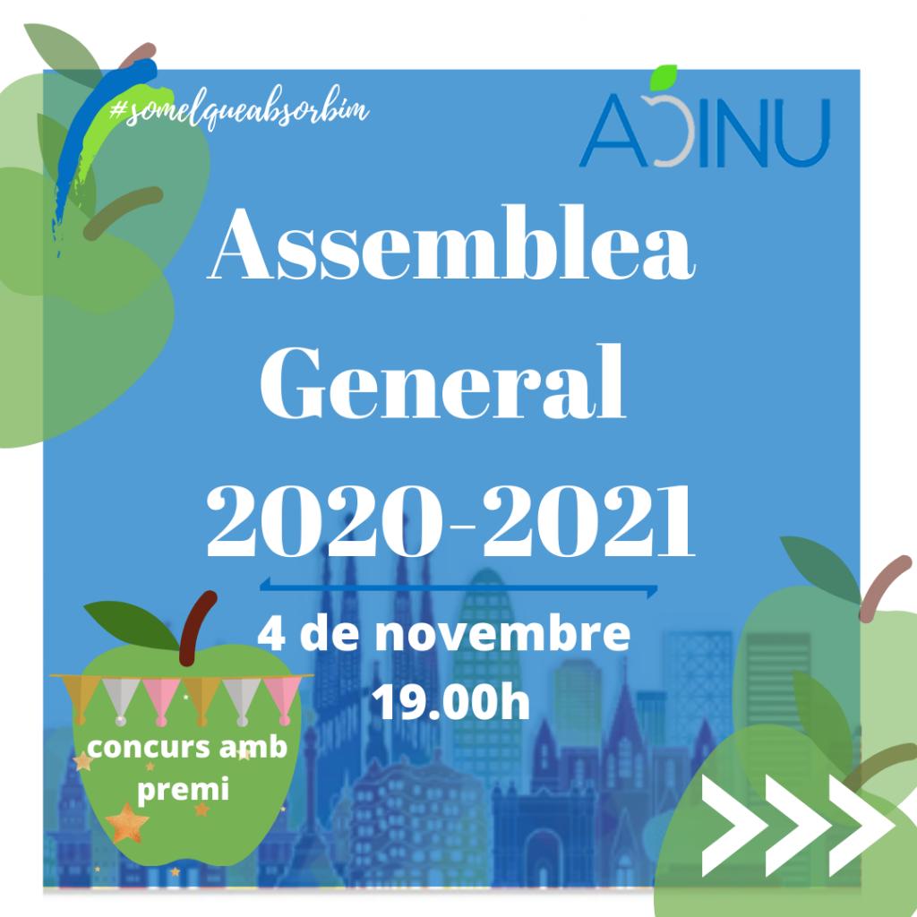 Assemble General Ordinària ADINU Barcelona 20/21