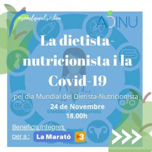 La dietista-nutricionista i la COVID-19
